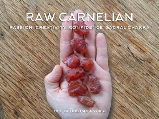 raw carnelian crystals for confidence